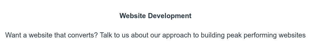 Website Development  Want a website that converts? Talk to us about our approach to building peak  performing websites