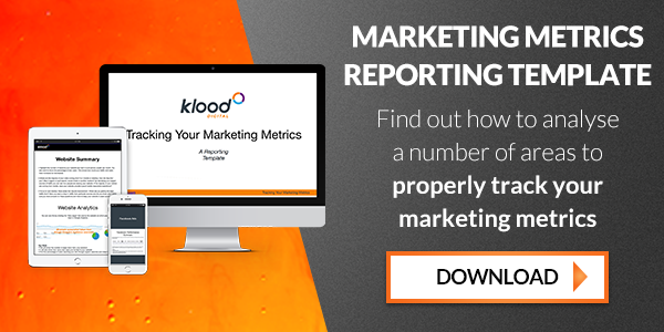 marketing metrics reporting template