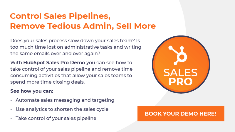 Book a HubSpot Sales Pro Demo