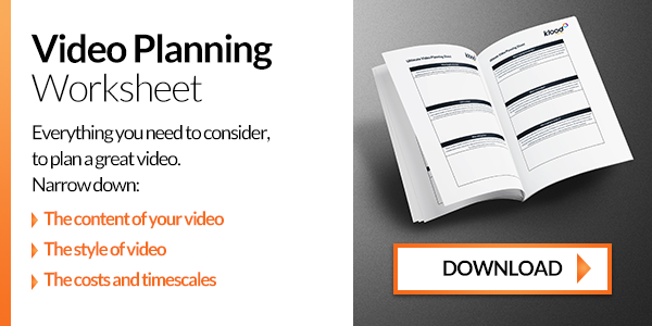 Video planning worksheet