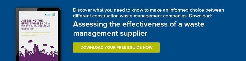 Assessing the Effectiveness of a Waste Management Supplier