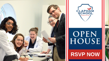 RSVP Now: Open House | Clapham School