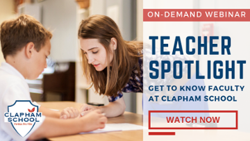Webinar: Teacher Spotlight | Clapham School