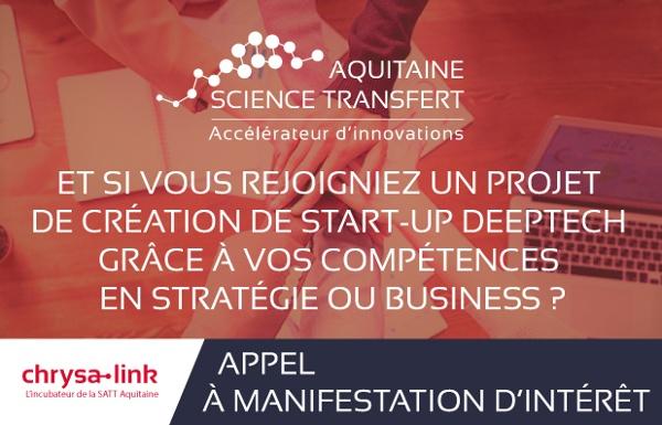 Et si vous rejoignez un projet de création de start-up deep-tech grâce à vos compétences en stratégie ou business ?