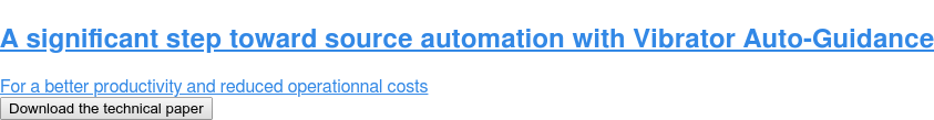 A significant step toward source automation with Vibrator Auto-Guidance  For a better productivity and reduced operationnal costs Download the technical paper