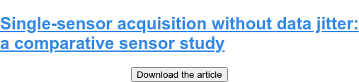Single-sensor acquisition without data jitter: a comparative sensor study Download the article