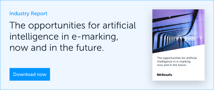 Download the opportunities for artificial intelligence in e-marking, report.