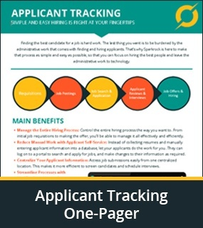 Applicant Tracking one Pager