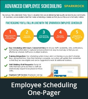 employee scheduling one pager
