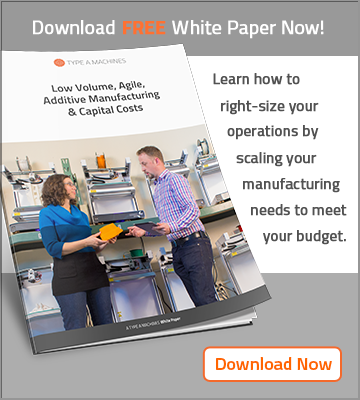 Low volume, agile, additive manufacturing and capital costs white paper