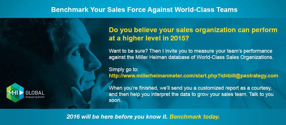 Benchmark Your Sales Force Against World-Class Teams