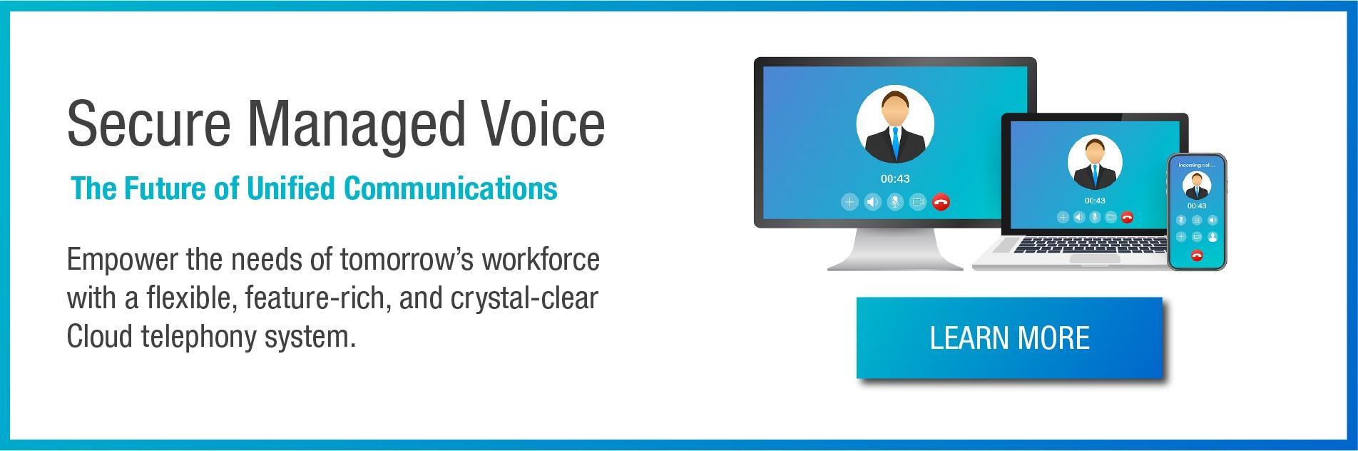 Répondez aux besoins de la main-d'œuvre de demain avec un système de téléphonie cloud flexible, riche en fonctionnalités et clair comme du cristal.