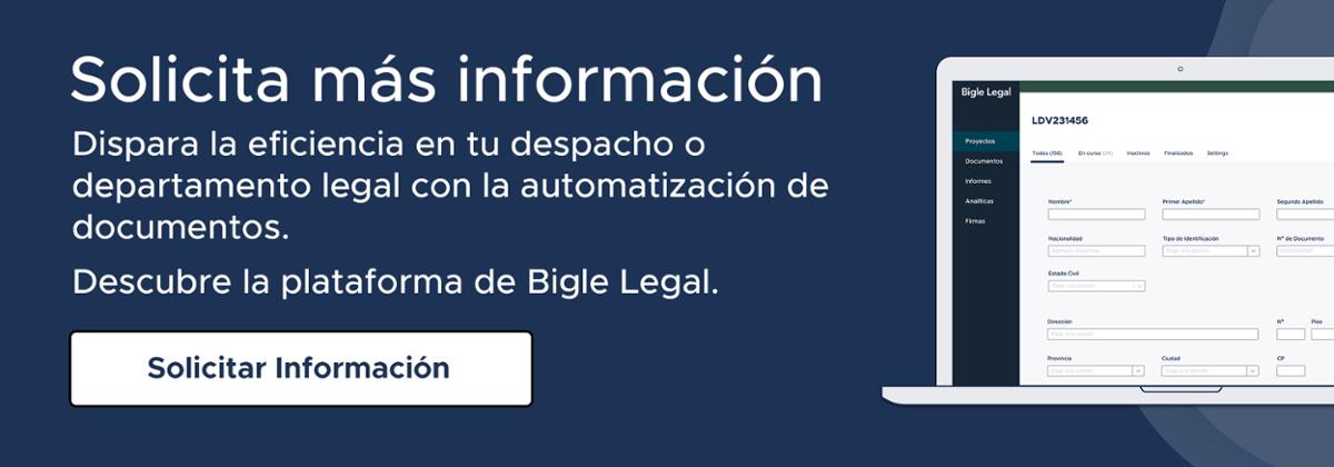 solicita la información sobre Bigle Legal