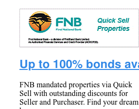 Up to 100% bonds Available - FNB
