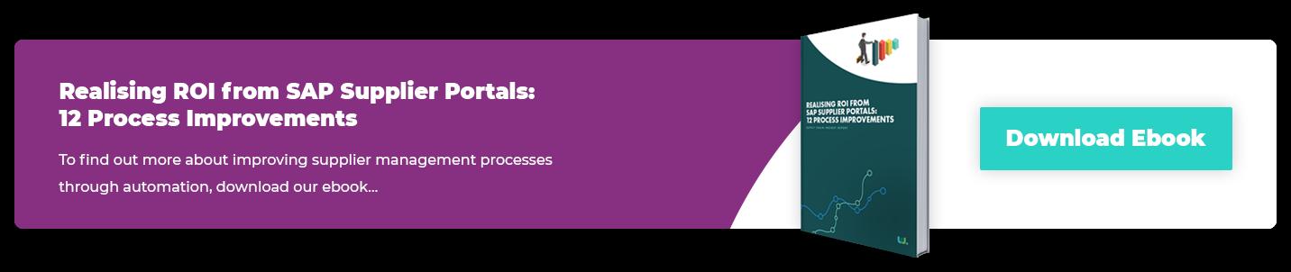 Realising ROI from SAP Supplier Portals: 12 process improvements