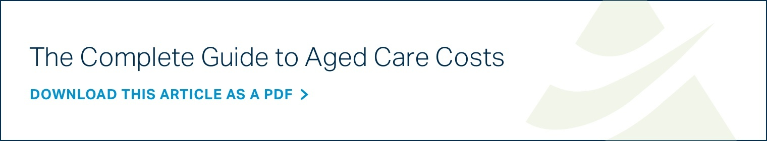 Aged care costs