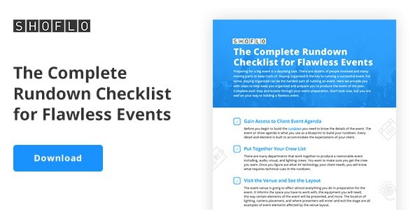 Download the Complete Rundown Checklist for Flawless Events