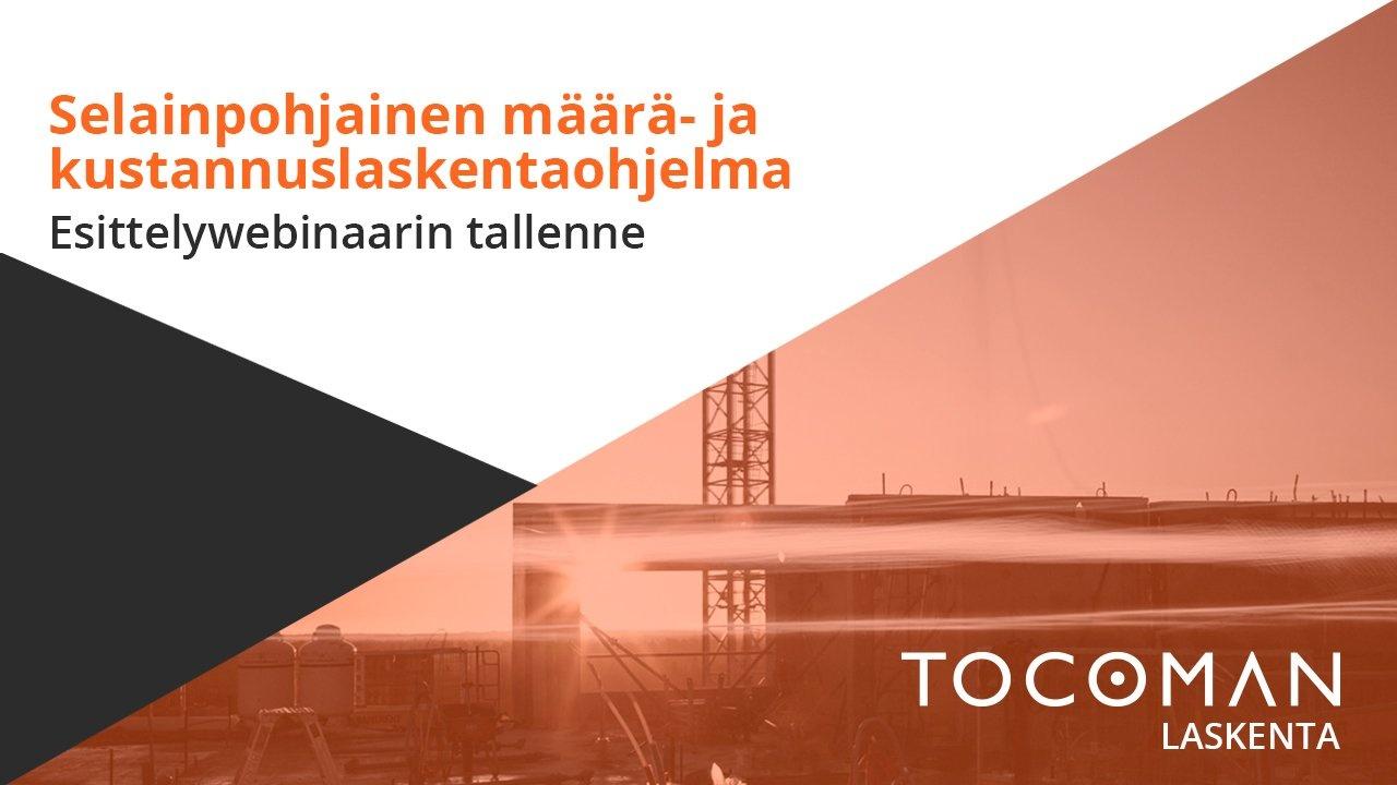 Tocoman määrä- ja kustannuslaskenta esittelywebinaari