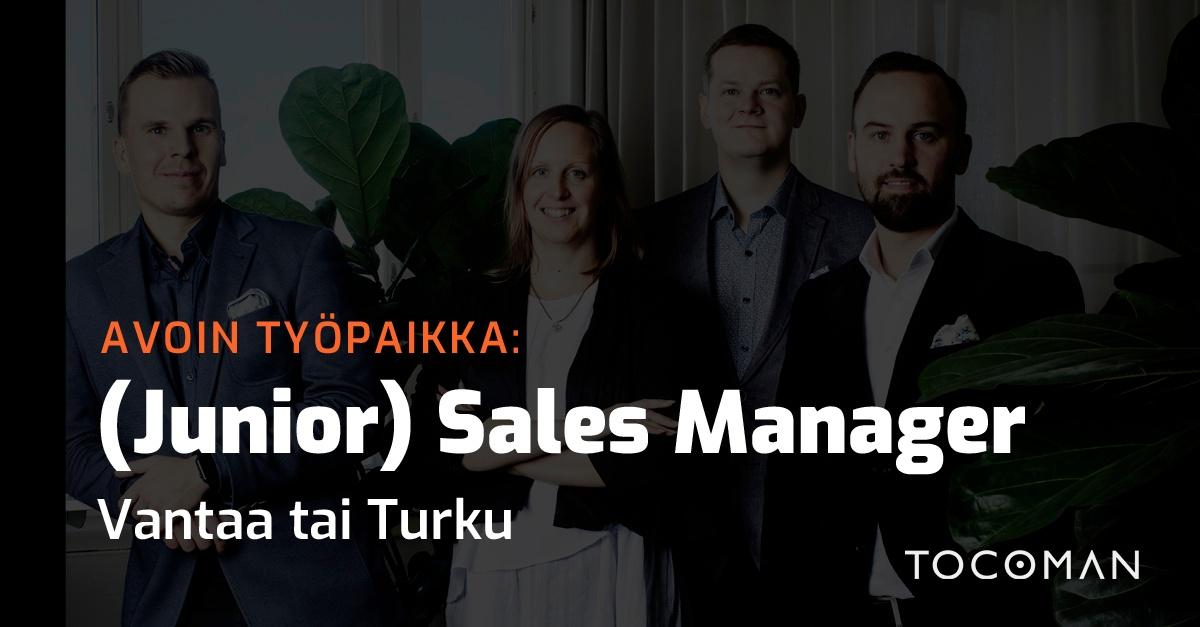 Avoin työpaikka   (Junior) Sales Manager