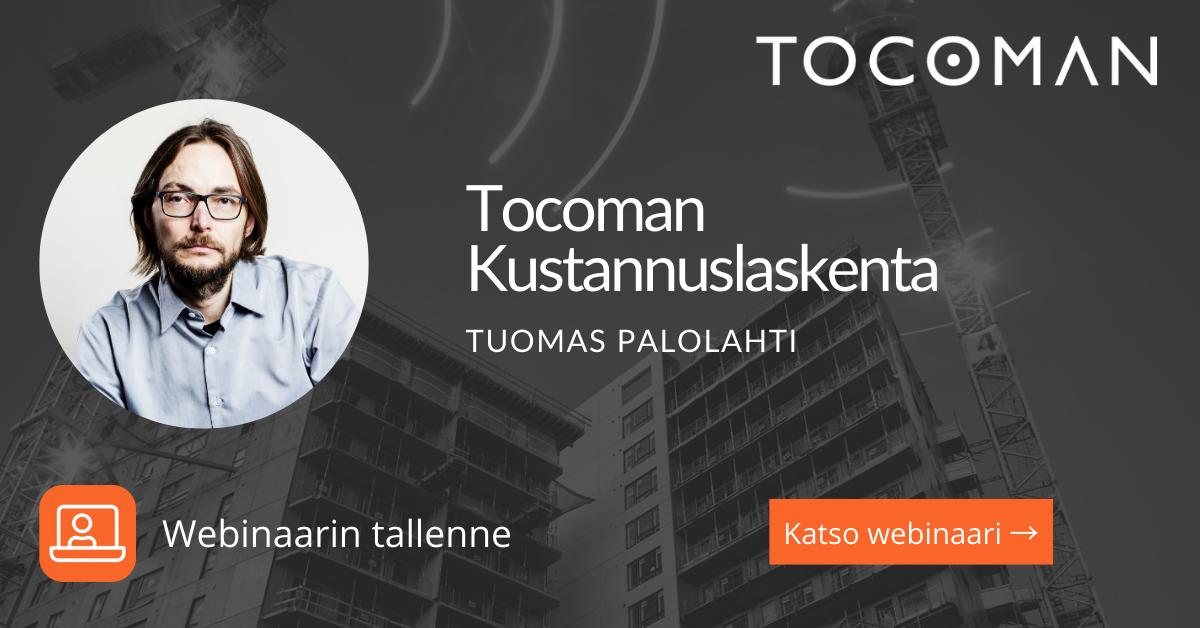 Tocoman Kustannuslaskenta ja Kustannustieto webinaari