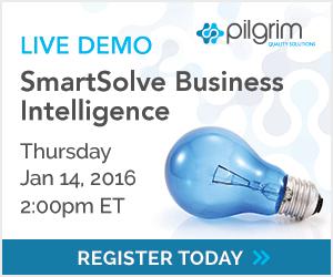 SmartSolve Business Intelligence Live Demonstration, Thursday Jan 14, 2016 at 2:00pm ET. Register Today!