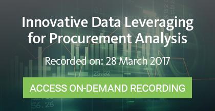 Innovative Data Leveraging for Procurement Analysis - Register Here