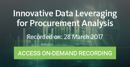Innovative Data Leveraging for Procurement Analysis - Register Here