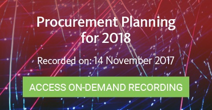 Procurement Planning for 2018 - Register Here