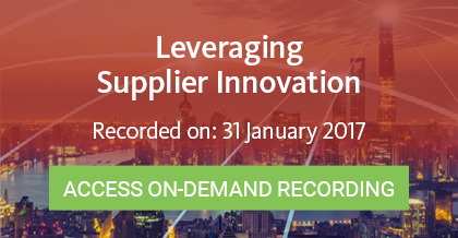 Leveraging Supplier Innovation - Access On-Demand Recording