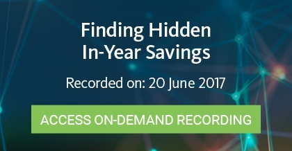 Finding Hidden In-Year Savings - Register Here