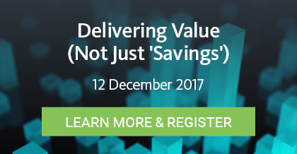 Delivering Value (Not Just Savings) - Register Here