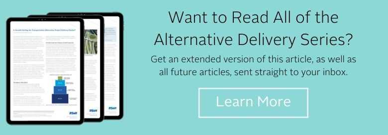Get all articles of the alternative project delivery series delivered to your inbox.