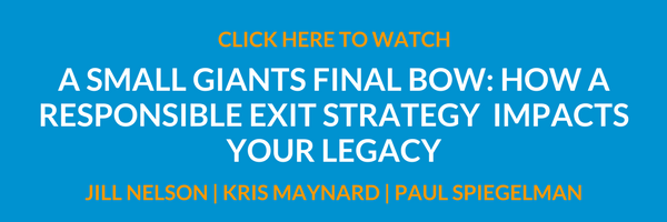 A Small Giants Final Bow: How A Responisble Exit Strategy Impacts Your Legacy
