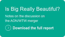 Is Big Really Beautiful?  Notes on the discussion on  the AON/WTW merger  Download the full report