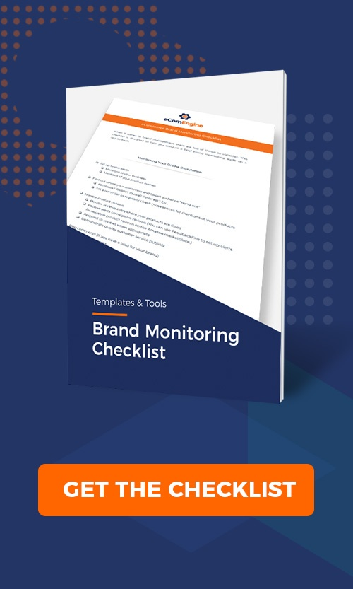 Brand monitoring checklist with get the checklist button