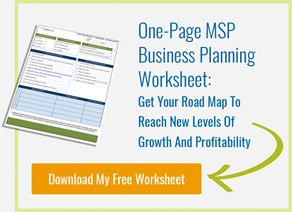 One Page MSP Business Planning Worksheet