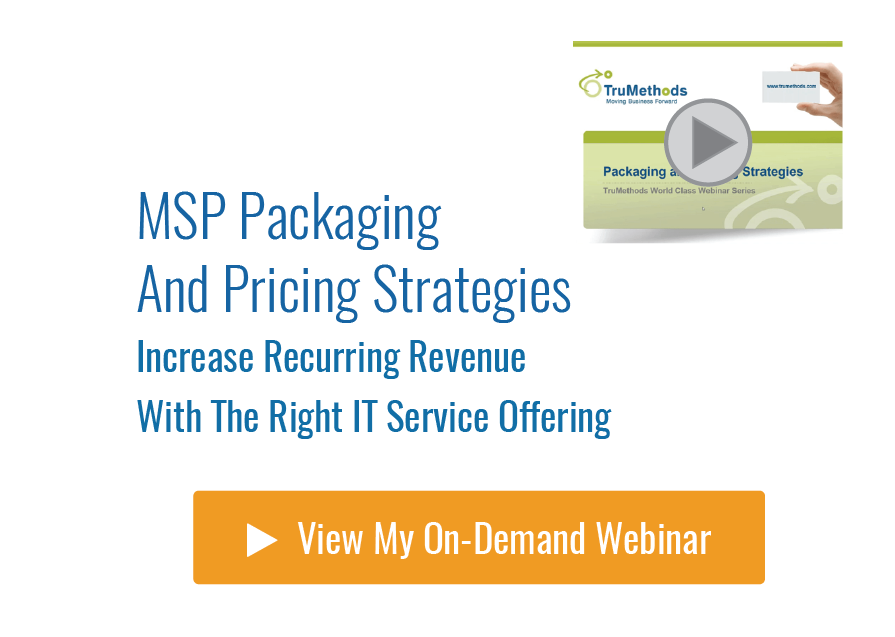 MSP Packaging & Pricing Strategies  Watch Now