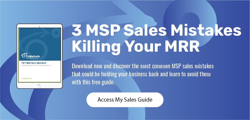 MSP Sales Mistakes