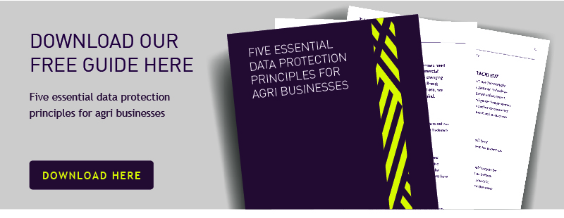 data protection principles for agri business