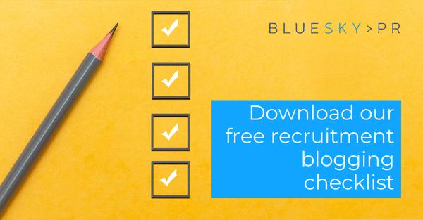 Download our free recruitment blogging checklist