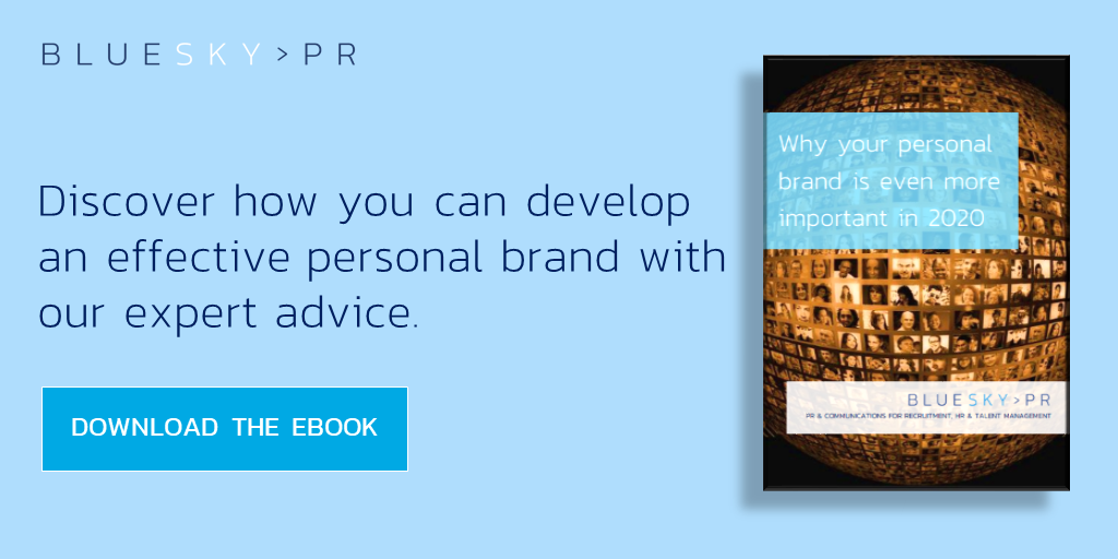 For more top tips and advice on social recruiting, download our free ebook 'Why  your personal brand is even more important in 2020' today.