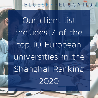 Our client list includes 7 of the top 10 European Universities in the Shanghai ranking 2020