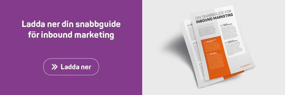 Snabbguide inbound marketing