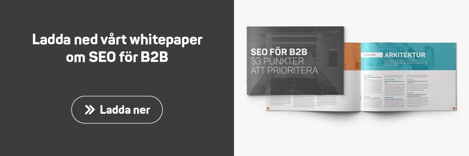 Whitepaper SEO för B2B