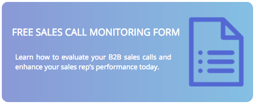 Sales Call Monitoring Form