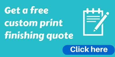 free custom print finishing quote