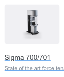 Sigma 700/701 State of the art force tensiometers with outstanding versatility and high  level of automation.