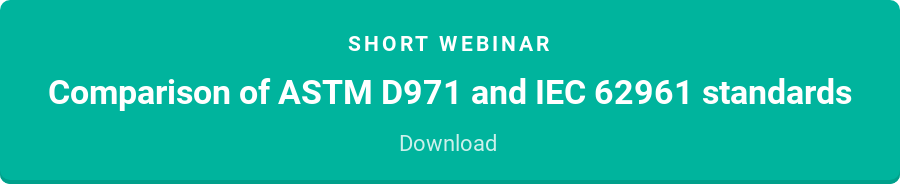 Short webinar  Comparison of ASTM D971 and IEC 62961 standards  Download