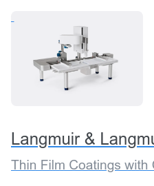Langmuir & Langmuir-Blodgett Troughs Thin Film Coatings with Controlled Packing Density