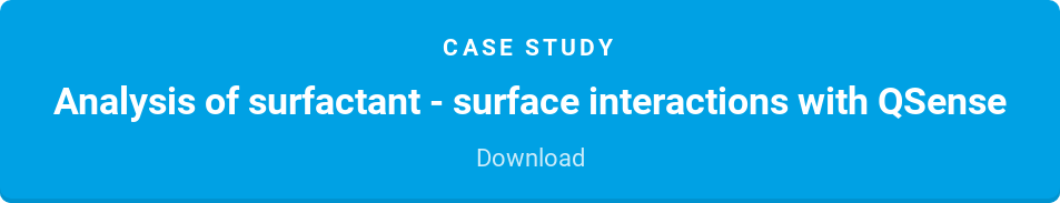 Case Study  Analysis of surfactant - surface interactions with QSense  Download